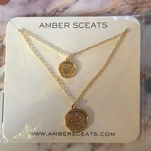 BRAND NEW • AMBER SCEATS DOUBLE COIN NECKLACE